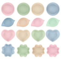 Wheat Straw Love Heart Shape Small Plates Snack Dish Sauce Plate 4 Colors&Shape