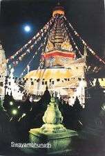Swayambhunath Stupa At Night Postcard