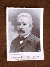 Deputato nel 1904 Ragioniere Eugenio Chiesa di Massa Carrara
