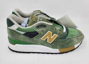 NEW MEN'S 7 NEW BALANCE FOR J CREW 998 SNEAKERS IN GREENBACK GREEN MADE IN USA