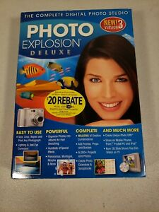 Photo Explosion Deluxe Version 3 CDs & Booklet For Windows 2000 XP Vista Sealed