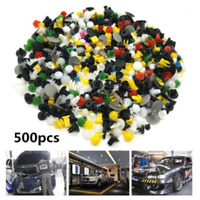 500PCS Mixed Kinds Auto Car Fastener Clip Bumper Fender Trim Rivet Door Panel CN
