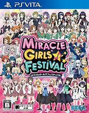 Used PS Vita MIRACLE GIRLS FESTIVAL SEGA  SONY PLAYSTATION JAPANESE IMPORT