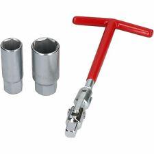 """Spark Plug Socket Remover Installer set 3/8"""" T bar + 16mm and 21mm Sockets"""