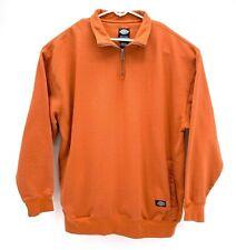 Dickies Mens XXL Pull Over Sweatshirt Orange Zip Up