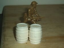 1/32 SCALE SOLID RESIN NICE DETAIL BARRELS FOR SCENES & DIORAMAS 2 PACK SEE PICS