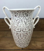 Vintage Red Wing Art Pottery Vase with Double Handles #1165