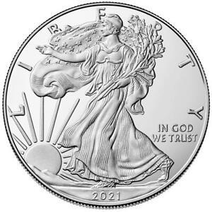 USA - 1 Dollar 2021 - Silver Eagle - Anlagemünze - 1 Oz Silber ST