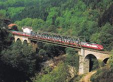 Postkarte: TEE-Triebwagen Baureihe 601 bei Langenbrand 1984 auf der Murgtalbahn
