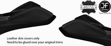 BLACK&BLACK DOUBLE STITCH 2X KNEE PAD LEATHER COVERS FOR CHEVROLET CAMARO 16-20
