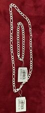 925 Sterling Silver Necklace And Bracelet Set Link Chain Made In Italy