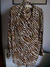 Liz Claiborne 'Lizsport' 100% Cotton Long Sleeve Collared Shirt, Size Large