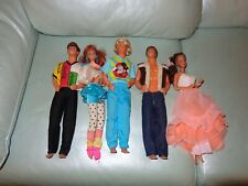Vintage 1968 Mattel Doll lot of 5 HIPPIE 1 WITH DISNEY SHIRT ONE WITH COCA COLA