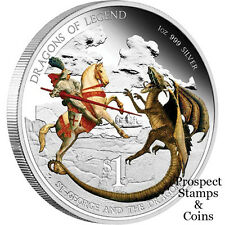 2012 Dragons of Legend - St. George and the Dragon 1oz Silver Proof Tuvalu Coin