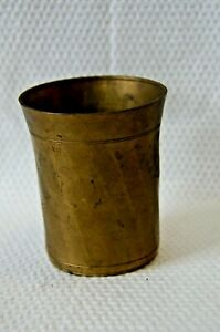 Antique Brass Drinking Glass Cup Original Old Hand Crafted