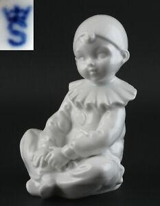 9943040 Porcelaine Figurine Gräfenthal Pierrot Blanc H13,5cm