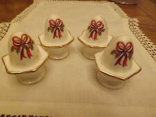 * Holiday Ribbons*  Royal Albert Old Country Roses Set 4 name place card holders