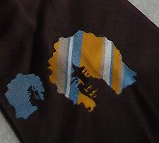 BURTON PSYCHEDELIC AFRO TIE 1960s 1970s HIPPIE BURGUNDY GROOVY FUNKY MODERNIST