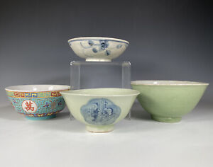 Antique To Vintage Chinese Porcelain Bowls Ming Qing Republic Prc