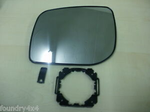 Range Rover P38 L/H Wing Mirror Glass & Mounting Clip