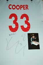 MLS NEW YORK RED BULLS USA STAR KENNY COOPER #33 SIGN SOCCER JERSEY W/PHOTO PROF