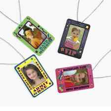 Backstage Badge Holder Necklaces 4 Piece Party Favor