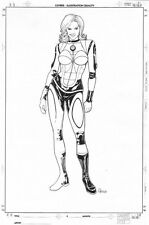 Sue Storm Model / Design Sheet, signed by Steve Skroce