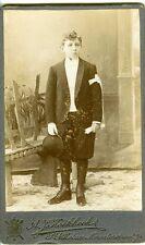 BELGIQUE . St NIKOLAAS . Un communiant - CDV photo circa 1890