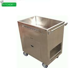 "Stainless Steel Dim Sum Steam Cart 20""W x 30""L"