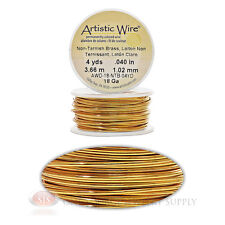 18 Gauge Brass Artistic Craft Wire 12 Feet 3.65 Meters Jewelry Beading Crafts