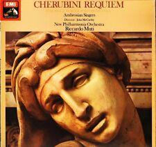 ASD 3073 B/W BAND MUTI/AMBROSIAN SINGERS cherubini requiem LP PS EX+/EX