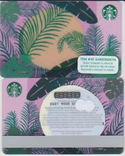 Hungary Starbucks card,No value,PIN intact - 2018 Plant Leaves Sunset with I