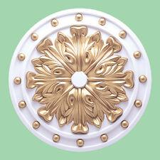 doré Beau orné blanc Plafond rose Décor Maison Victorien Médaillon 52cm CR4