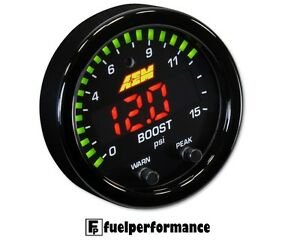 NEW AEM 30-0309 X-SERIES BOOST / FUEL PRESSURE GAUGE 0~15PSI