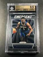 ZION WILLIAMSON 2019 PANINI PRIZM #7 EMERGENT ROOKIE RC BGS 9.5 GEM MINT NBA