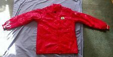 VTG Pioneer Seed Red Jacket Coat Nylon Lining Men Sz Medium Snap Front