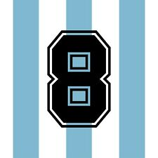 Caniggia 8. Argentina Home football shirt 1990 - 1991 FLOCK NUMBER PRINT