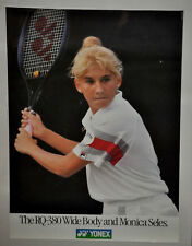 Monica Seles Rq-380 Wide Body 'Red Sleeve' Yonex Tennis Poster Vintage (252)