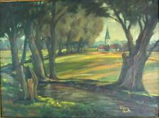 Ölgemälde - Landschaft mit Dorf - Fritz STARK (1916-1998)