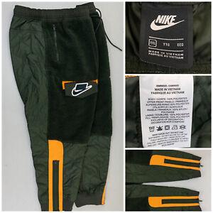 NIKE MENS XXL Sportswear Fleece Sherpa Joggers Sweatpant Green Tech