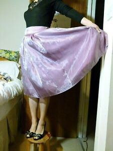 RAMPAGE lilac purple organza knee length PROM DANCE SKIRT US size 9 UK size 12