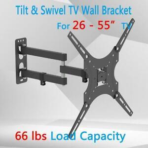 TV Wall Bracket Mount Tilt & Swivel for 26 32 37 40 42 43 55 50 Inch Monitor LCD