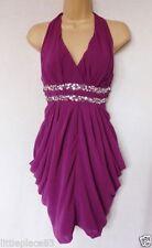 Halter Neck Patternless Mini Plus Size Dresses for Women