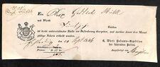 POST fittizio Württemberg 1846 #h155