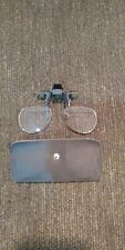 Flip Down Magnifiers w case +2.0 magnification Fly Fishing Glasses