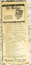 VTG Pioneer Community Song Sheet McMillen Feed Mills Master Mix Feeds 12 Pages