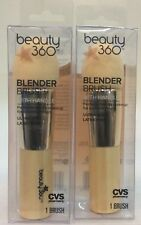 2 Beauty 360 Blender Makeup Brush With Handle~Ultra-soft & Latex Free