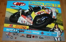 2015 Melissa Paris signed M4 Suzuki GSX-R600 Supersport MotoAmerica poster