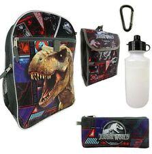 Universal Studios Jurassic World Kids 5in1 Backpack 16in Lunch bag Water Bottle