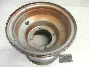 "1983 Yamaha Tri Moto 200 Ytm200 Genuine Front/Rear Wheel Rim Steel Silver 9"" in"